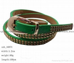 studded pu belt