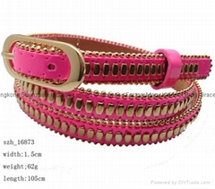 studded pu belts