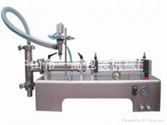 氣動臥式單頭液體(膏體)定量灌裝機