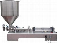 气动卧单头膏液定量灌装机