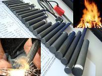 "3/8""x 3"" Ferrocerium Flint Rod -Mischmetal Flint Fire Starter- Metal Match"