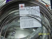 Tantalum alloy wire  90% tantalum 10% tungsten Ta-10W Ta10W KBI-10 TaW10
