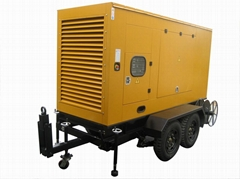 diesel generators with mobile trailer mounted
