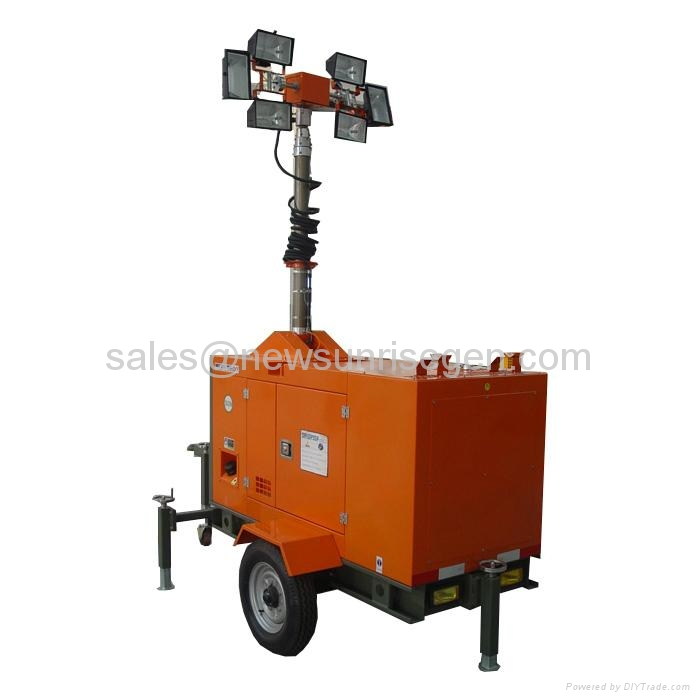 Portable Light Tower Price: Mobile Lighting Tower (China Manufacturer)