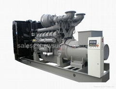 diesel generator set 728kw/910kva,with Perkins engine 4008TAG2A