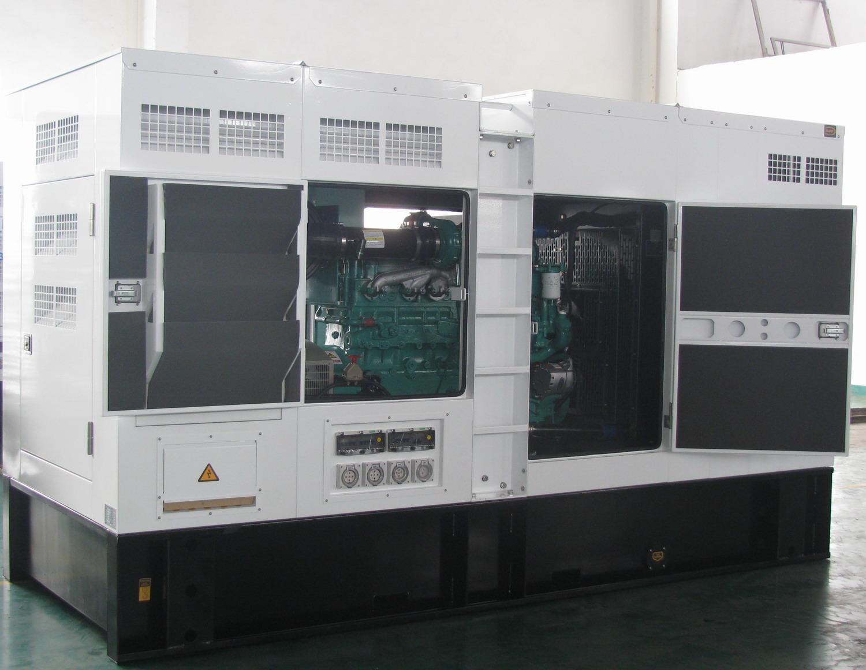 Cummins diesel generator 350kva/240kw ,engine model NTA855-G4,silent type