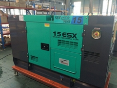Denyo type,diesel generator set 15kva/12kw,with Kubota engine V2203-E2BG