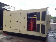 natural gas generator 250kva/200kw,Cummins engine HGNT14,with silent type,60hz