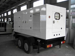 diesel generator with mobile trailer