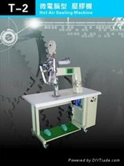 Clothing pressure glue machine