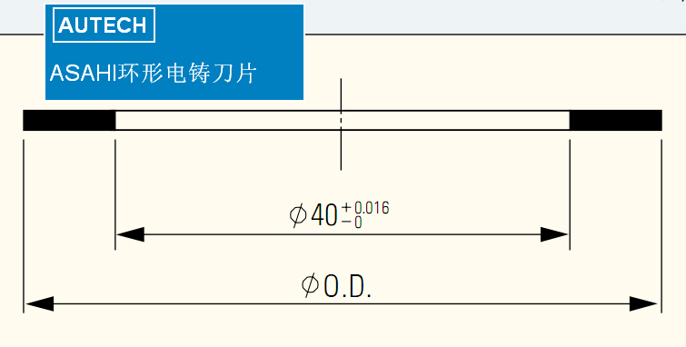 SUN旭环形II电铸刀片ASAHI DICING BLADE 5