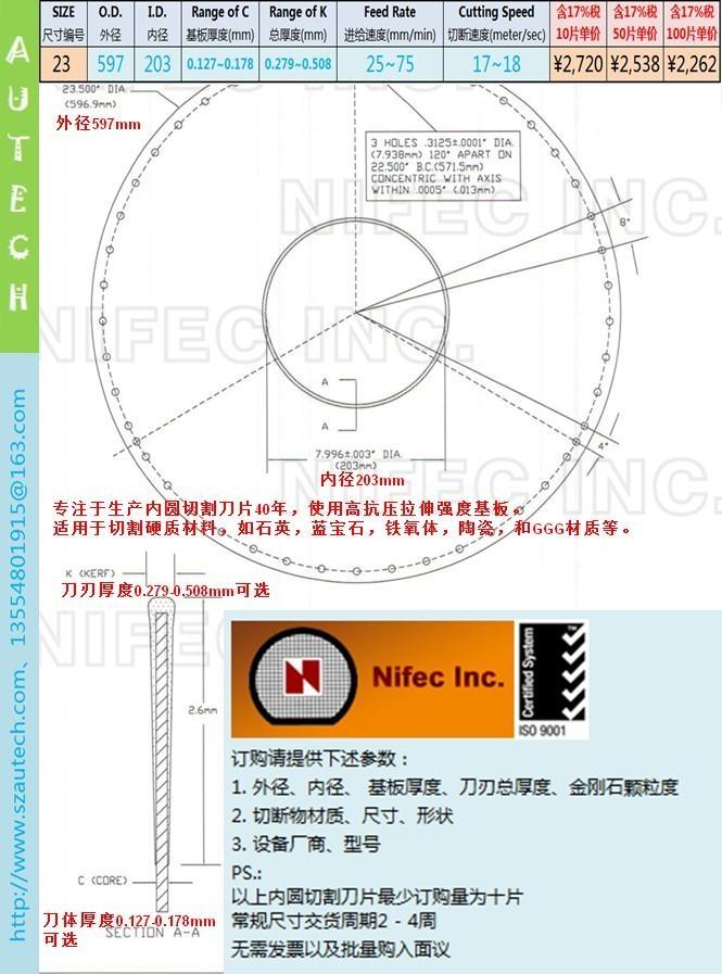 Nifec23inch597*203mmI.D. BLADE 2
