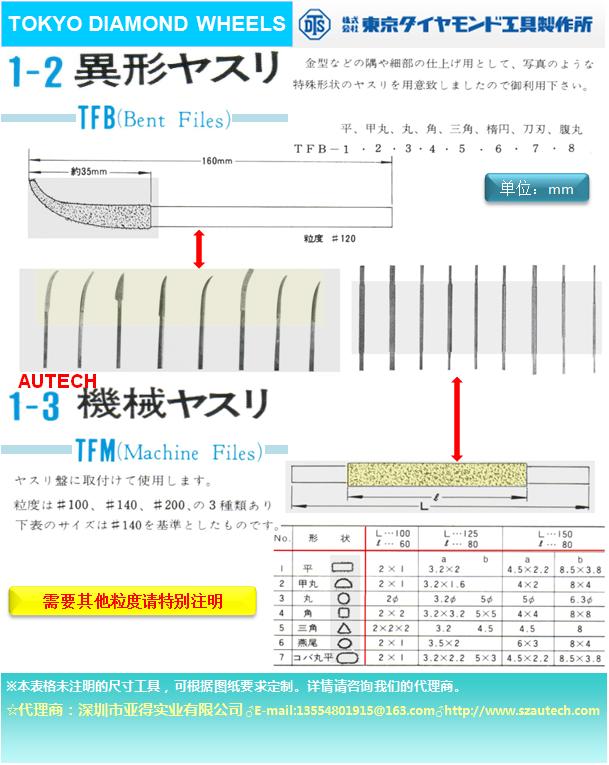 日本東京鑽石工具製作所磨頭DTS DIAMOND WHEEL 3