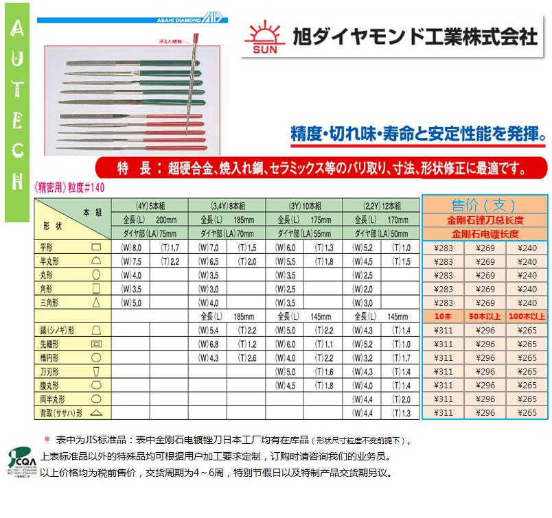 日本旭金刚石工业株式会社 金刚石电镀锉刀修整工具