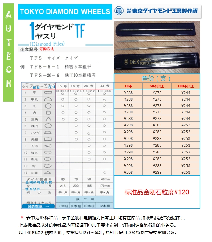 TOKYO DIAMOND TOOLS MFG.Co.,LTD.   Diamond Files
