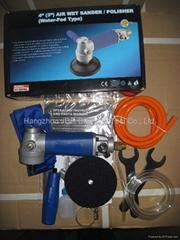 Air wet polishing machines