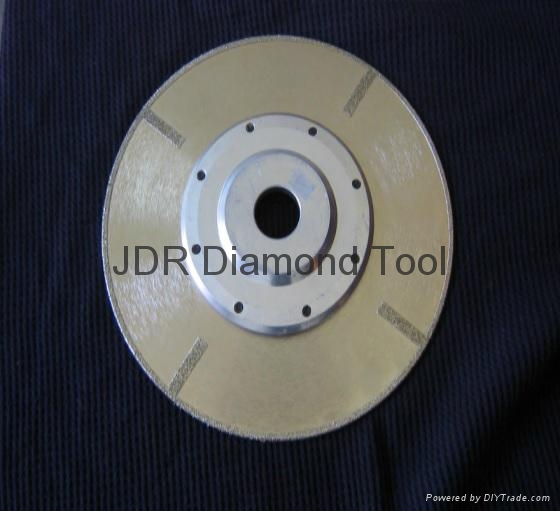 Continuous rim Electroplated diamond blades with Straight protections and flange 2