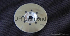 Continuous rim Electroplated blades with J protections and flange