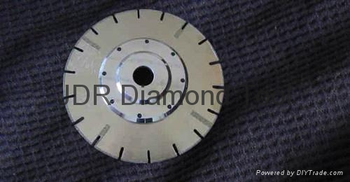 U-slot Electroplated blade with straight protections and flange