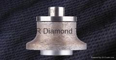 Sintered diamond router bits