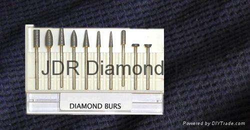 Sintered diamond bur set 1