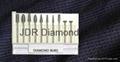 Sintered diamond bur set
