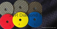 Three Step dry  diamond polishing pads