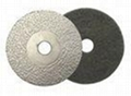 Vacuum Brazed Diamond Polishing Pads , Diamond Grinding Disc For Concrete Polish