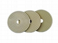 "4"" D100mm Diamond 3 Step Wet Polishing Pads for granite,hard stone"