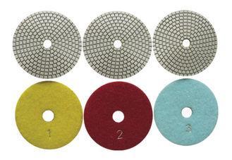 High Efficiency Diamond Polishing Pads , 4 Inch 3 Step Diamond Granite Polishing 2