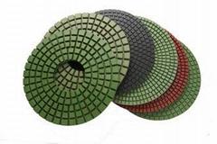 High Gloss Finish Diamond Polishing Pads , Resin Bond Diamond Stone pad