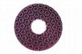 """Resin Copper Bond Diamond Polishing Pads , 4"""" / 5"""" Angle Grinder Polishing Pad 2"""
