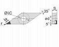 VBGW PCD Turning Insert