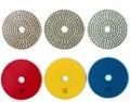 Three Step dry  diamond polishing pads