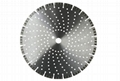 Laser welded turbo diamond blades with cooling holes