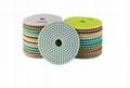 3mm Thickness 4 Inch Diamond Flexible Polishing Pad Wear Resistance  2
