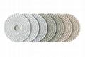 3mm Thickness 4 Inch Diamond Flexible Polishing Pad Wear Resistance  3