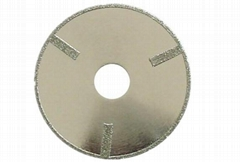 Continous rim Electroplated Diamond blades with straight protections