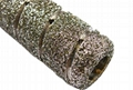 Electroplated diamond finger bits