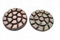 Copper diamond floor pad