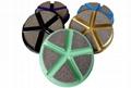 Ceramic bonded floor pads