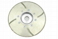 Continuous rim EP Diamond blades with turbo protections and flange