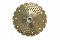Dots V slot segmented Marble cutting and  grinding blades with M14
