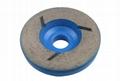 Snail lock diamond wheels
