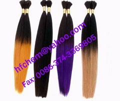 silky straight bulk human hair extension