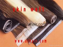 PU skin hair weft