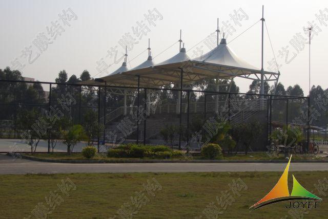 山西大学体育场看台膜结构