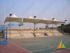 篮球场看台张拉膜
