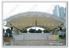 深圳公园文化舞台张拉膜结构