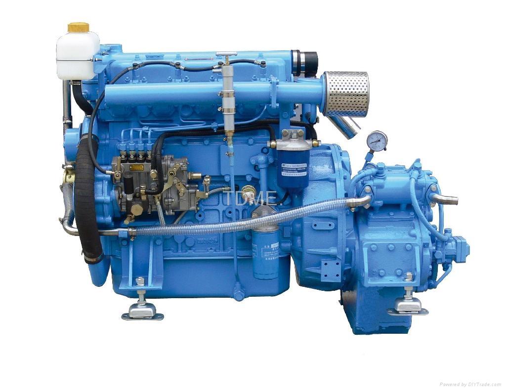 High Performance High Speed 80Hp Inboard Marine Diesel Engine 1
